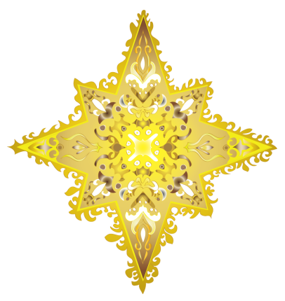 colorful star-yellow gold