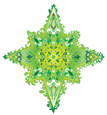 colorful star-wonderful green