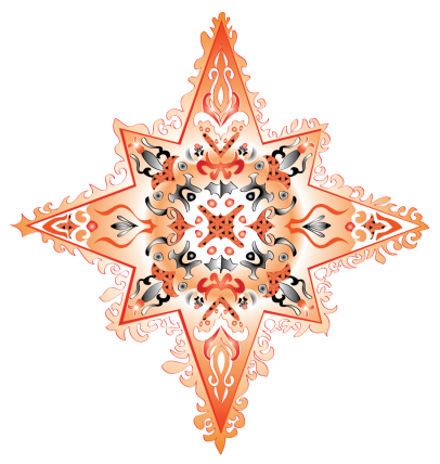colorful star-orange