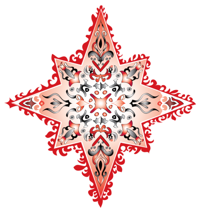 colorful star-red