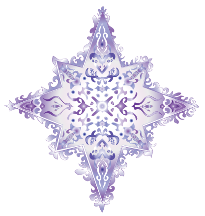 colorful star-violet