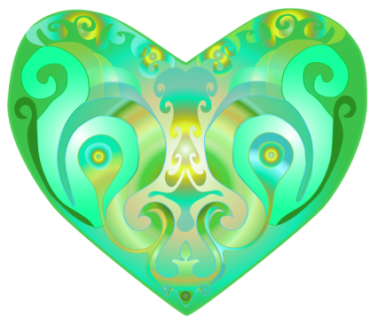 Colorful heart Emerald