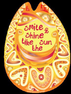 colorful smile sun