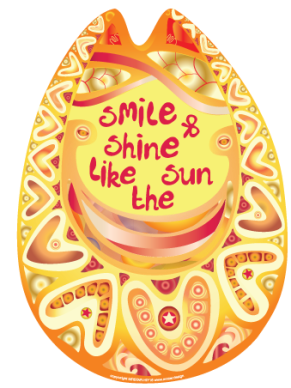 colorful smile sun