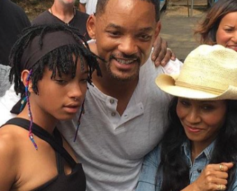 Willow, Will en Jada Smith