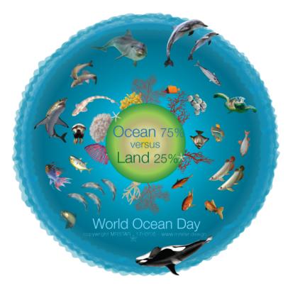 ocean illustration water versus land