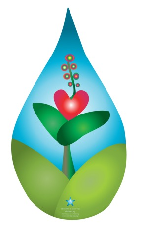 drop of water, in it love and life
