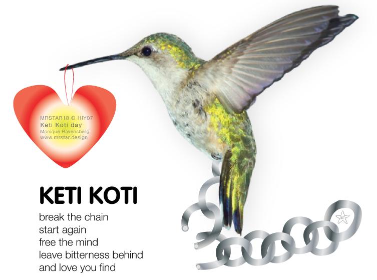 Illustration to illustrate Keti-Koti, the broken chains, no more slavery