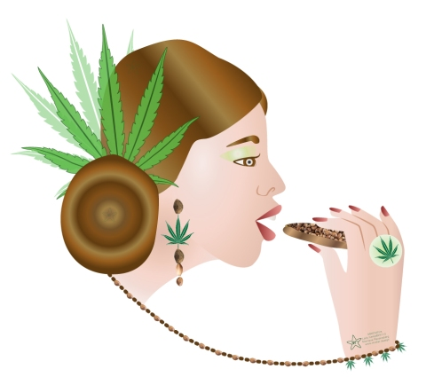 illustration from Lady Hemp by Monique Ravensberg for MRSTAR