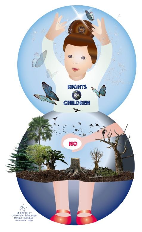 illustration by Monique Ravensberg for universal Children's day by MRSTAR.