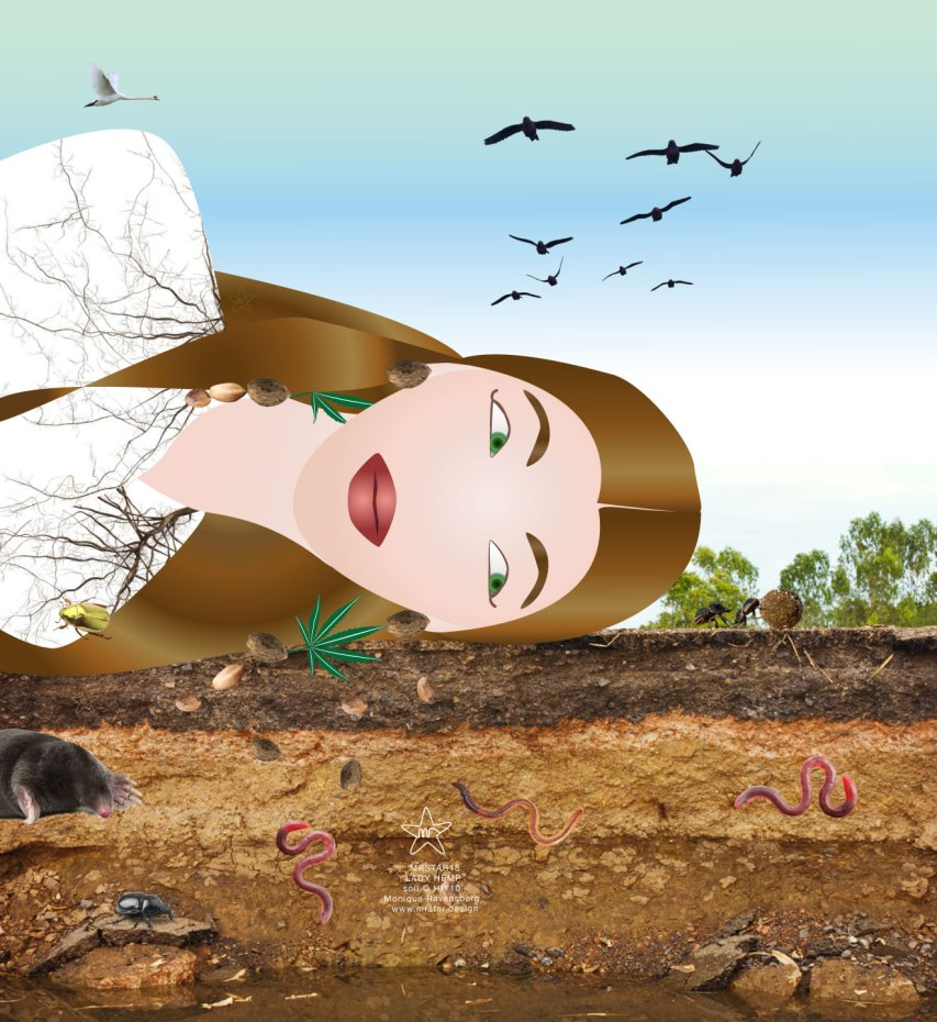 illustration by Monique Ravensberg aka #MRSTAR with #ladyhemp for #WORLDSOILDAY