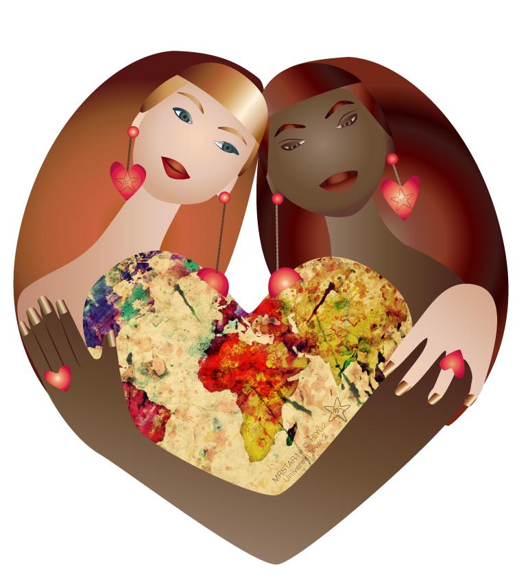 illustration by Monique Ravensberg for MRSTAR celebrating #universallove part 2.