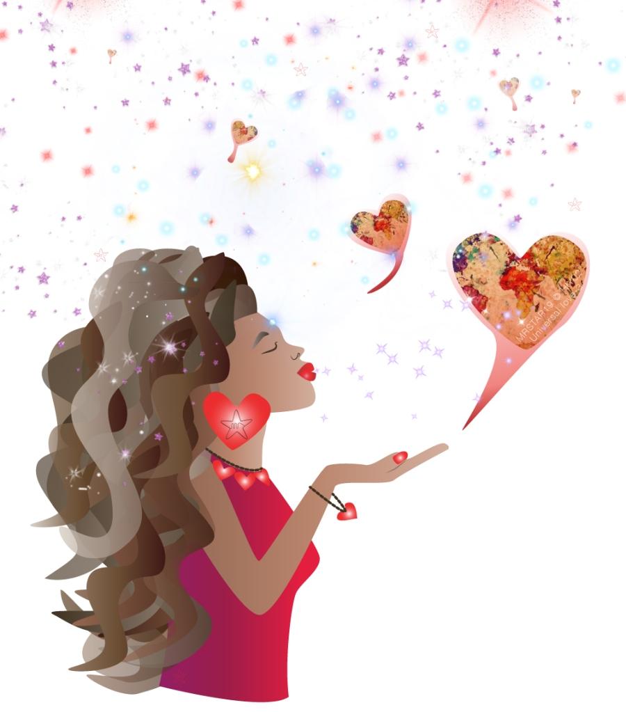 illustration by Monique Ravensberg for MRSTAR celebrating universal love
