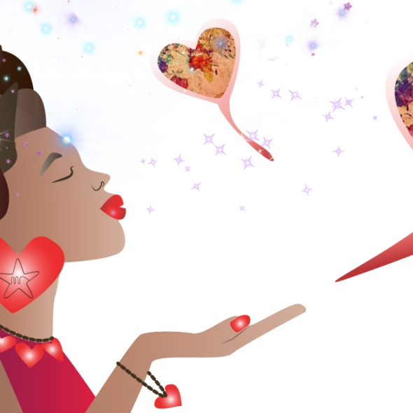 illustration by Monique Ravensberg for MRSTAR celebrating universal love part 3.