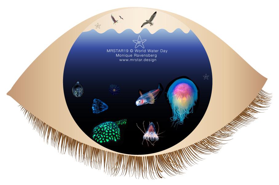 copywright 19 Monique Ravensberg for mrstar illustration - World water day.