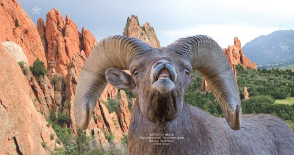 New MOON April 2019- Collage banner Aries by #MRSTAR. Photo Bighorn ram by Tonytakes.com