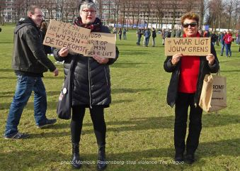 Freedom-stop-violence-The-Hague-ladies