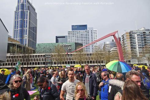 freedom-Rotterdam-walk-200424-Schouwburgplein-finish