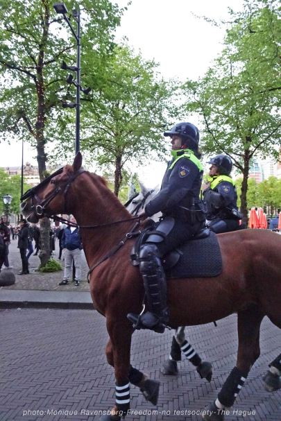 Freedom-210516-The-Hague-mounted-police