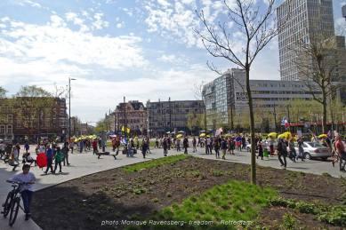 Freedom-march-210509-Rotterdam-Kruisplein-overview