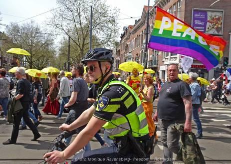 Freedom-march-210509-Rotterdam-police