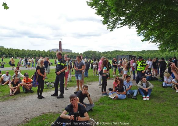 Freedom-210620-The-Hague-people-and-police