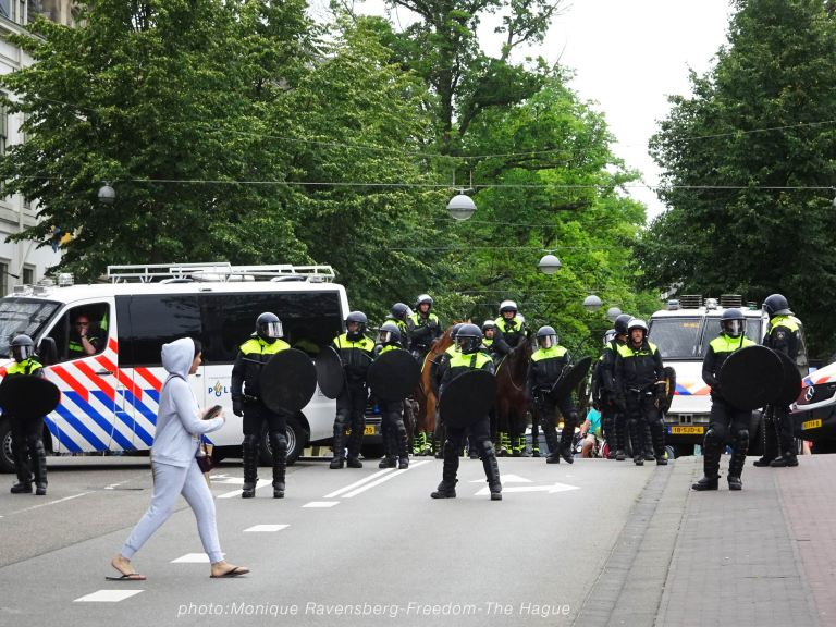 Freedom-210620-The-Hague-police-army