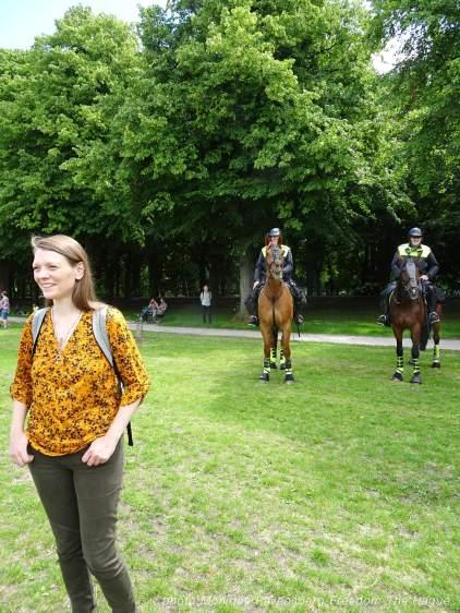 Freedom-210620-The-Hague-police-horses-Malieveld