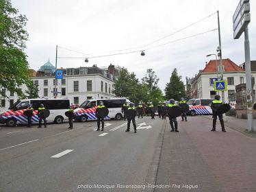 Freedom-210620-The-Hague-police-line-bridge
