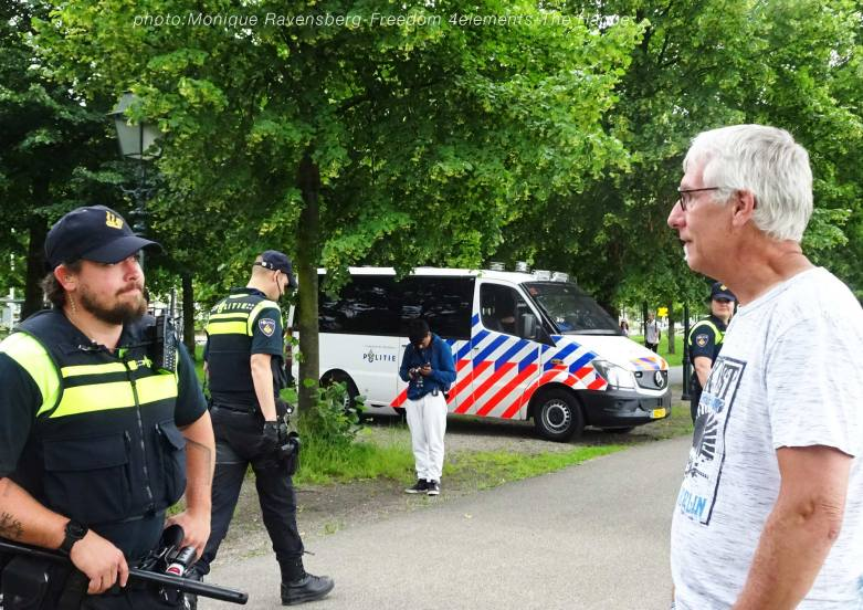 Freedom-210704-The-Hague-police-conversation