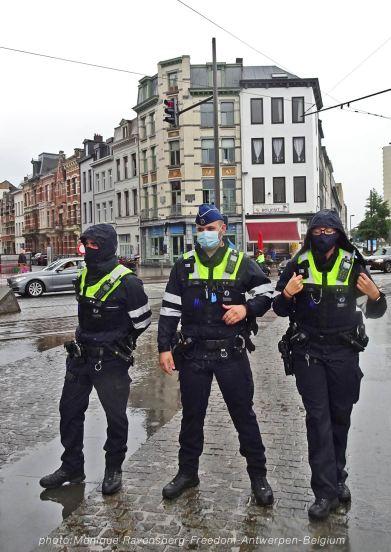 Freedom-210822-Antwerpen-police