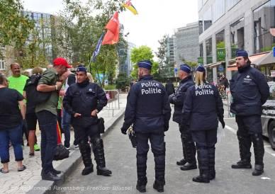 Freedom-210911-Brussel-finish-police